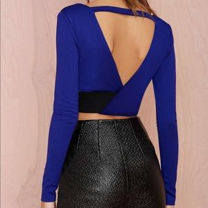 Nasty Gal Long Sleeve Crop Top